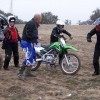 A new rider learning how to operate the Kawasaki KLX