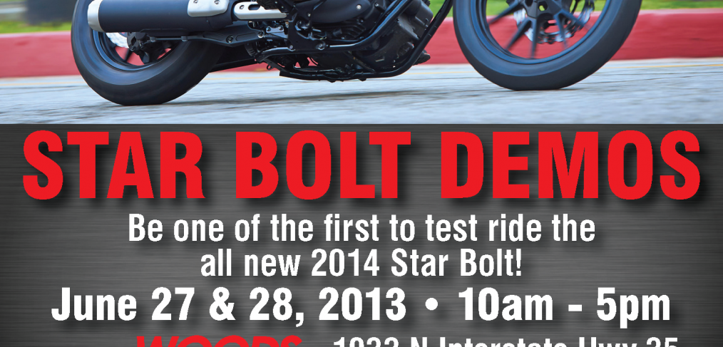 Star Bolt demo days at Woods Cycle Country