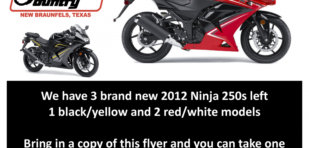 Ninja 250 - Clearance Priced