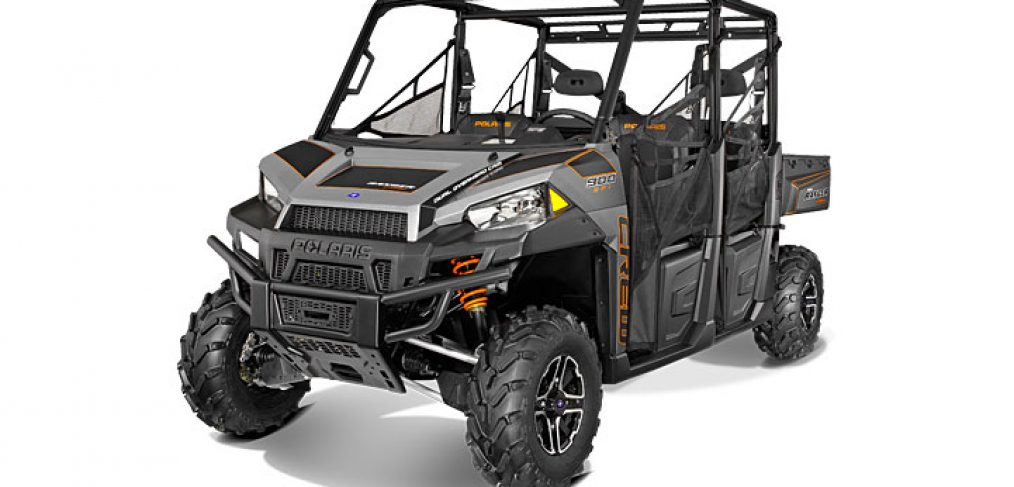 The 2014 Polaris Ranger Crew 900 in Titanium Matte Metallic