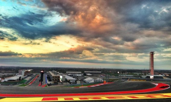 A sunset view of the COTA track