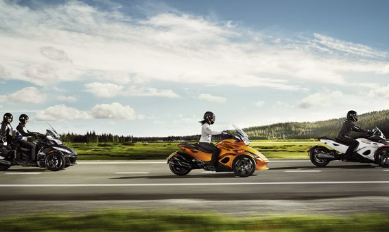 Test drive a new Can-Am Spyder at Woods Cycle Country