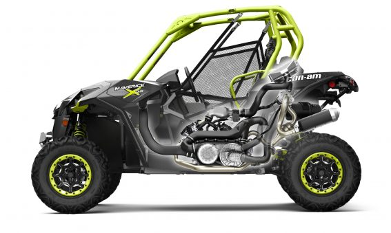 Side view cutaway of the new turbocharged Can-Am Maverick