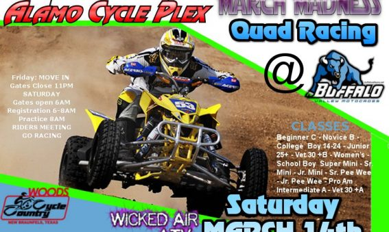 Quad Racing at Buffalo Valley MX on March 14th, 2015