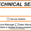 Polaris Technical Service Bulletins
