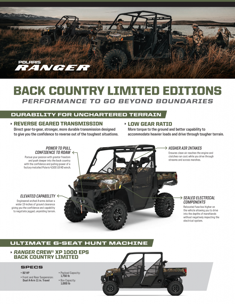 Polaris Ranger Back Country Limited Editions at Woods Cycle Country in New Braunfels, TX - The #1 Polaris Ranger Dealer