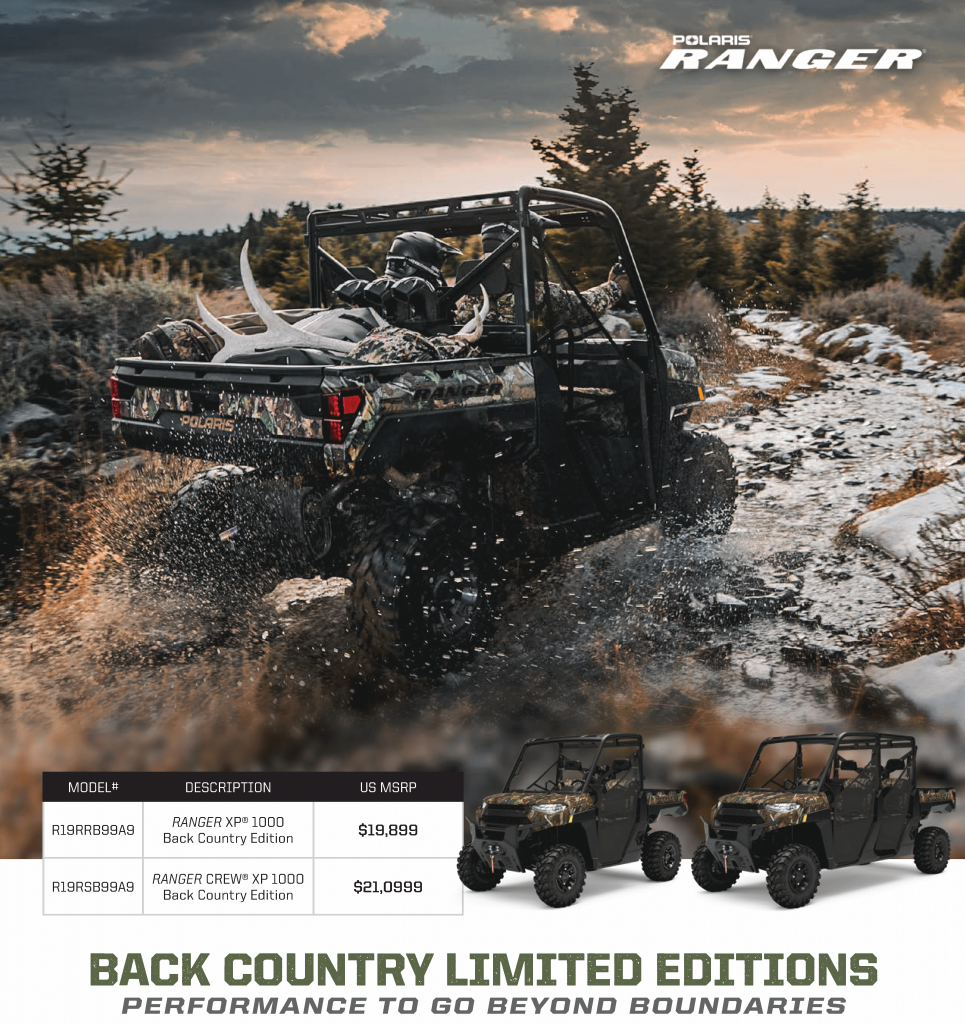 Polaris Ranger Back Country Limited Edition - Single cab and Crew models