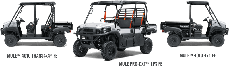 2021 Kawasaki Mules designed for commercial use
